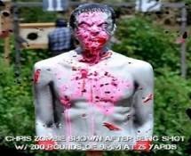 Lifesize Bleeding Zombie Target