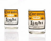 Recycled Corona Light Beer Bottle Glasses