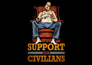 Support Our Civilians T Shirt